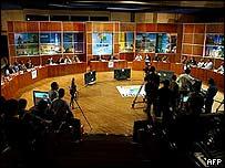 텔레수르 첫 방송 현장
